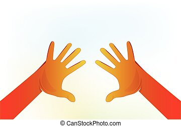 Hands voluntary symbol logo vector