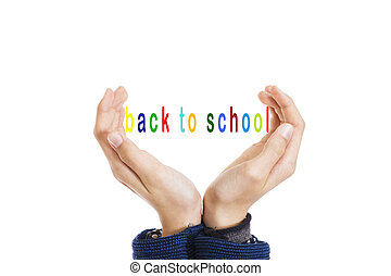 hands with back to school