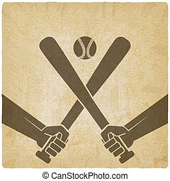 hands with baseball bats and ball