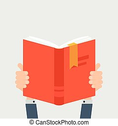 Hands with book