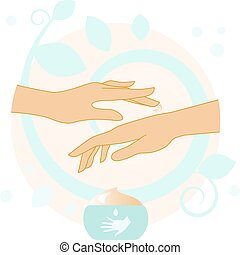 Hands With Cream illustration