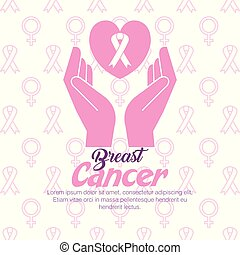 hands with ribbon cancer