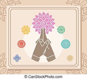 hands yoga mandala