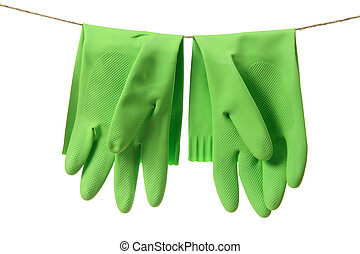 handschoenen, rubber
