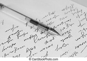handschrift, brief