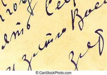 handschrift, papier, oud