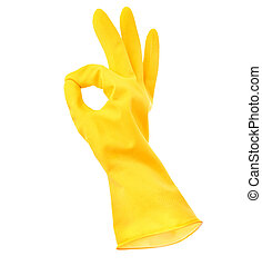 handschuh, gummi