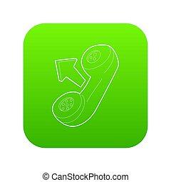 Handset icon green