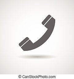 handset icon vector illustration - flat icon with handset...