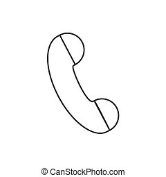 Handset Telephone dial - Handset on a white background...