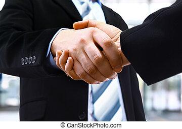 handshake, úřad