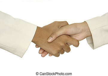 Handshake 1 - Two women shake hands