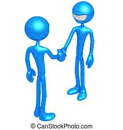 Handshake - 3D Concept And Presentation Figure