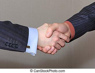 handshake., affari
