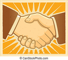 Handshake Agreement - Two men shaking hands.