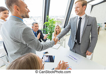 Handshake at business meeting