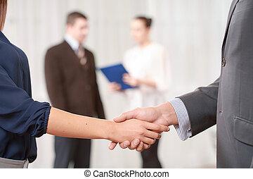 Handshake at the business meeting