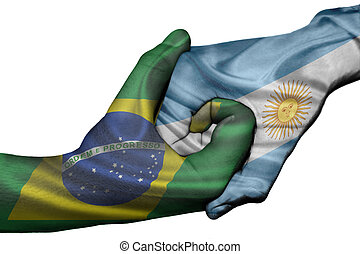 Handshake between Brazil and Argentina - Diplomatic ...