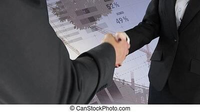 Handshake between business people 4k