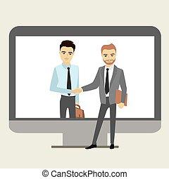 Handshake between businessmen.