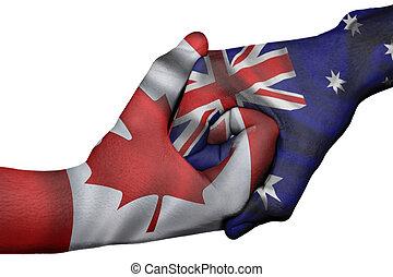 Handshake between Canada and Australia - Diplomatic ...