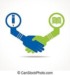 handshake between educated people
