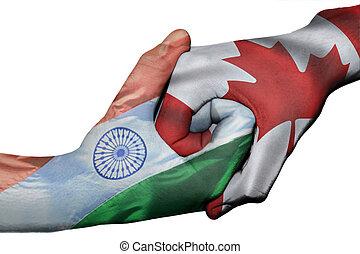 Handshake between India and Canada - Diplomatic handshake ...