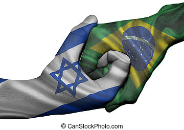 Handshake between Israel and Brazil - Diplomatic handshake ...