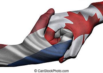 Handshake between Netherlands and Canada - Diplomatic ...