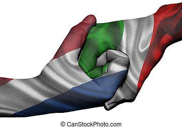 Handshake between Netherlands and Italy - Diplomatic ...
