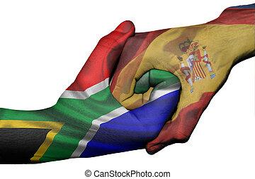 Handshake between South Africa and Spain - Diplomatic ...