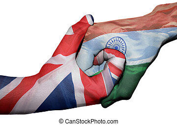Handshake between United Kingdom and India - Diplomatic ...