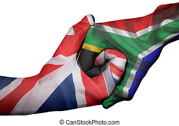 Handshake between United Kingdom and South Africa - ...