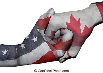 Handshake between United States and Canada - Diplomatic ...
