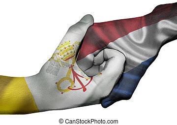 Handshake between Vatican City and Netherlands - Diplomatic ...