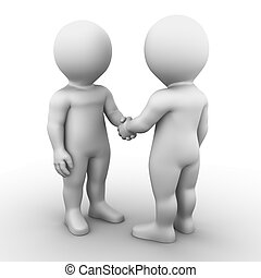 handshake - Bobby Series - Two friends are shaking each...