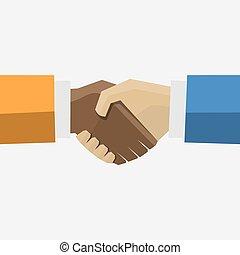 handshake., business