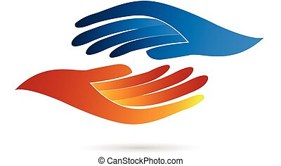 Handshake business concept identity card web vector icon