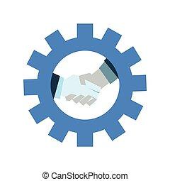 handshake business on gear team