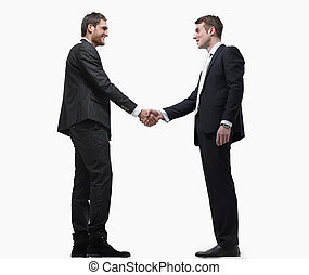 handshake business partners.isolated on a white background.