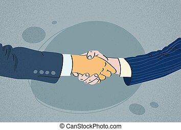 Handshake Business People Hands Shake
