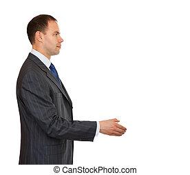 Handshake businessman.