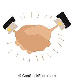 Handshake cartoon illustration