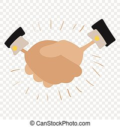 Handshake cartoon illustration