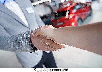 Handshake certainly the sign of approval
