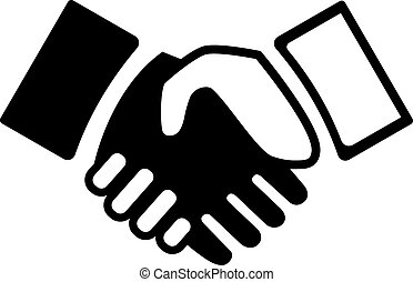 Handshake - Vector black and white Hand shake icon