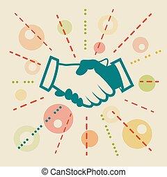 Handshake. Concept business illustration
