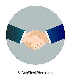 Handshake concept in flat design