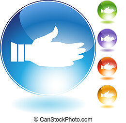 Handshake Crystal Icon