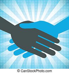 Handshake design. - Handshake design with a textured...